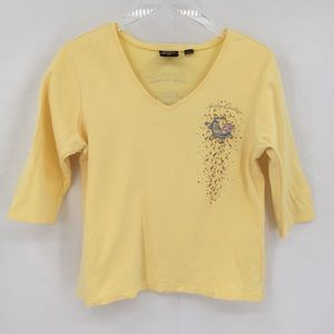 Harley Davidson yellow shirt top moon star XL